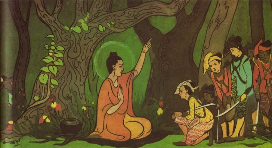 Image result for buddha and old woman cartoon